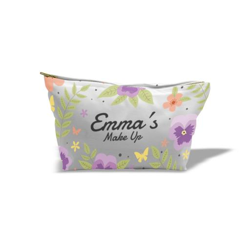 Cosmetic Bag Canvas Small - Full Colour - Approx - 28cm x 15cm x 8cm