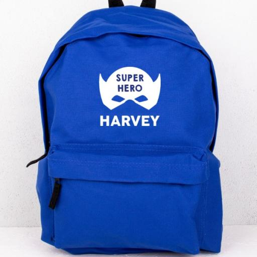 Blue Superhero Backpack