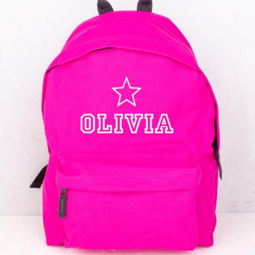 Fuschia Star Backpack