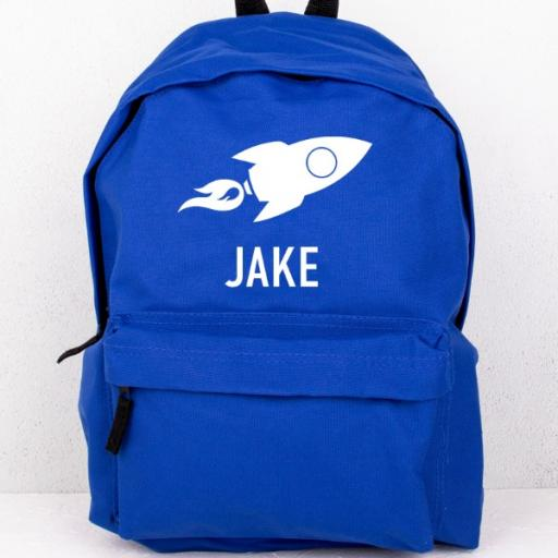 Blue Rocket Backpack